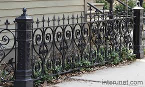 ornamental steel fence with stylish posts interunet