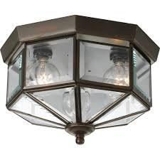 progress lighting flush mount progress lighting 3 light antique bronze flushmount with clear