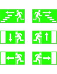 Common Placas de sinalização de escadas de incêndio e saídas de  #JQ73
