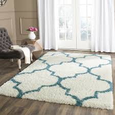 Area Rugs White White And Teal Shag Area Rug Reviews Wayfair