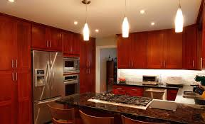 Modern Cherry Kitchen Cabinets Seemly Kitchen Cabinets Islands For Cherry As Wells As Tile In