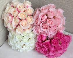 pink bouquet flower bouquet etsy