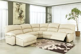 sofa leather sectional sofas with recliners and cup holders