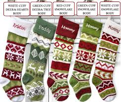 knit christmas stockings red green large and long
