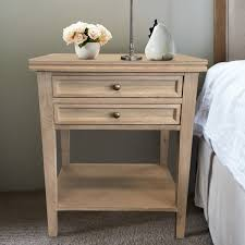 Bedside Tables Oak Bedside Table 2 Drawers