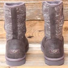 ugg womens lyla boots charcoal 53 ugg shoes ugg lyla charcoal silver sequin cardy boots us