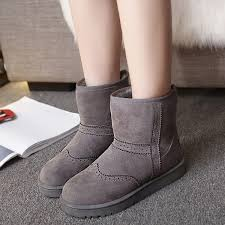 Comfortable Casual Boots Winter Women Keep Warm Boots Suede Comfortable Casual Ankle Short