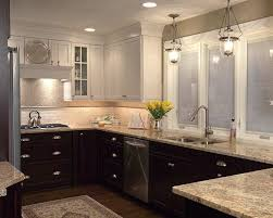 two tone kitchen cabinets brown two tone kitchen cabinets transitional kitchen colour