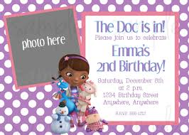 2nd Birthday Invitation Card Doc Mcstuffins Birthday Invitation Birthday Ideas Pinterest