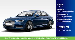 audi account services contract hire an audi a4 2 0 tdi s line saloon