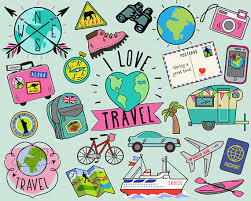 travel stickers images Travel clipart summer clipart bullet journal stickers travel jpg