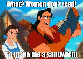 Make Me A Sandwich Meme - what women don t read go make me a sandwich hipster gaston