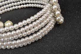vintage chokers necklace images Multi layer pearl jewelry luxury women chokers bridal wedding jpg