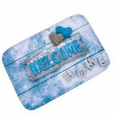 decorative floor mats home mdct aqua white snowflake welcome home floor mats merry christmas