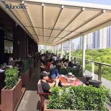 china retractable shades waterproof motorized pergola awning