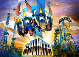 Goliath Six Flags Debut Of Goliath Roller Coaster