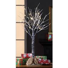 time pre lit led snow tree brown color white lights 3