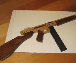 Make All From Wood Thompson Sub Machine Gun Wooden Toy
