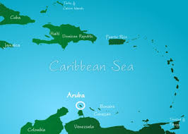 south america map aruba where is aruba located on the map geography this caribbean island