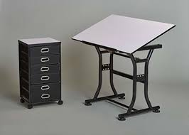 Martin Drafting Table Martin Diamond Creation Craft Center W Taboret