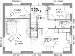platzbedarf treppe grundriss efh 2 dach 11 x 8 m seite 2