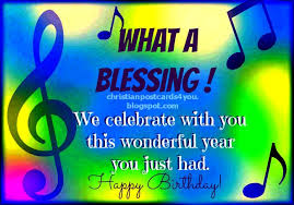 happy birthday what a blessing christian cards for you