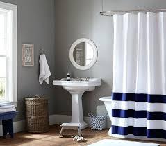Shower Curtain Striped Navy Stripe Shower Curtain Rugby Shower Curtain Navy And White