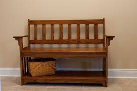 custom rustic dark brown wooden small entry bench with spacious