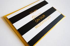 wedding card to groom from classic gold foil to my groom wedding card by cj designs