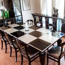 Traditional Dining Room Tables Traditional Dining Table Lacquered Wood Rectangular Grand