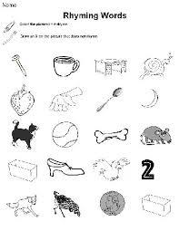 rhyming worksheets for kindergarten free u0026 printables words that