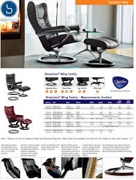 Burgundy Leather Chair And Ottoman Stressless Wing Recliner Chair And Ottoman By Ekornes Stressless