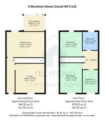 50 Sq M To Sq Ft Property For Sale Westfield Street Ossett Wf5 3 Bedroom House