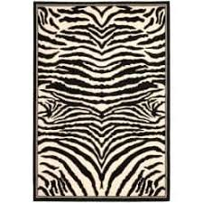 Zebra Print Rug With Pink Trim Animal 7x9 10x14 Rugs Shop The Best Deals For Nov 2017