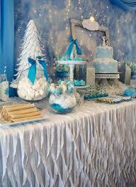 Winter Wonderland Themed Decorating - kara u0027s party ideas frozen winter wonderland themed birthday party