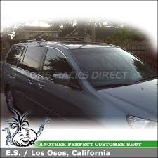 honda odyssey roof rails 2005 honda odyssey roof rack with yakima lowrider car rack system