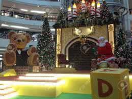 christmas decoration in shopping mall suria klcc kuala lumpur