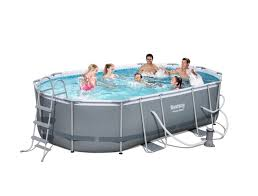 14 ft x 8 ft x 39 5 in oval bestway power steel pool