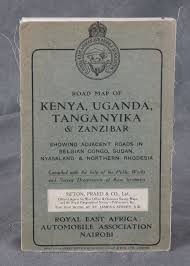 Map Of Uganda Road Map Of Uganda Tanganyika And Zanzibar Showing Adjacent