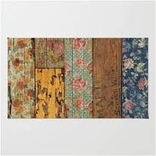 Wood Area Rug Western Antique Weathered Painted Barn Wood Area Rug Western