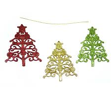 3pcs glitter stars christmas tree decoration xmas party hanging