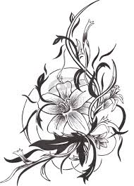 butterfly n lily tattoo design photos pictures and sketches