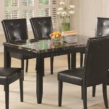 Cappuccino Dining Room Furniture U0026 Dark Faux Marble Top Modern Dining Table W Options