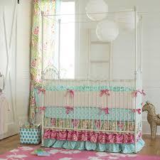 Sheets For Mini Crib Baby Cribs Boho Glenna Jean Polka Dots Crib Skirt Neutral Yellow
