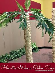 how to make a palm tree palm vacation bible school and set