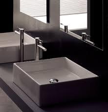designer bathroom sinks stanton 48 modern bathroom vanity vessel sink with regard to sinks