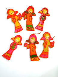 1960 u0027s mod angels christmas tree ornaments made in japan set of 6