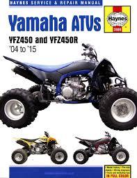 yamaha yfz450 yfz450r atv repair manual 2004 2015 haynes 2899