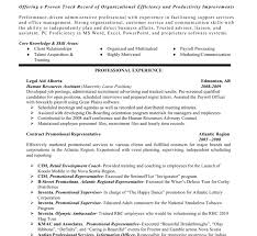 sample hr resume resume example
