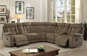 Sectional Sofa With Recliner Maybell Sectional Sofa Cm6773mc W Recliners In Mocha Fabric